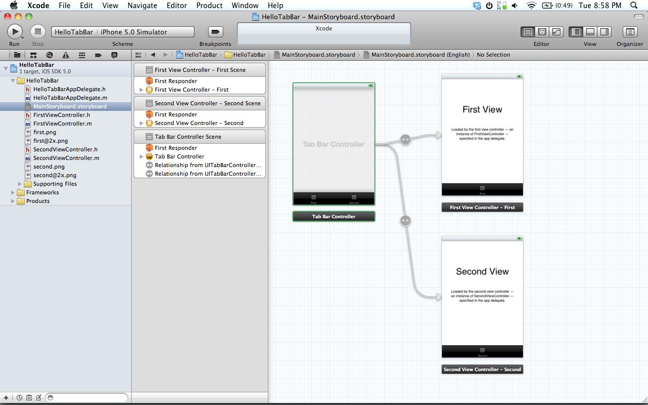 Iphone Tutorial Two Combining Uitabbarcontrollers Uitableviews